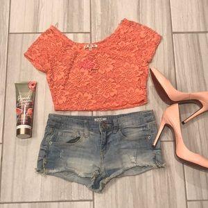 Sheer Lace crop top